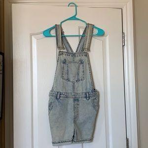 TopShop denim overalls (shorts)